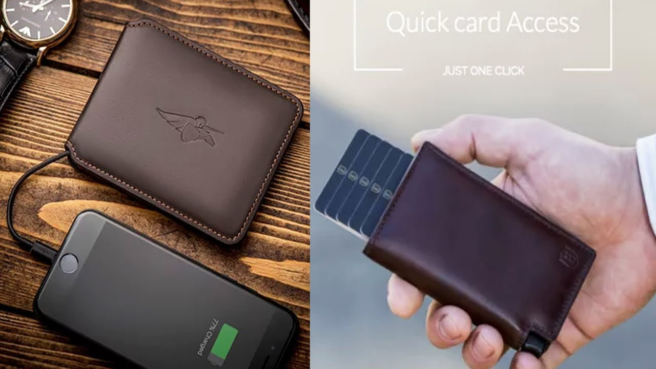 Portable charger wallet