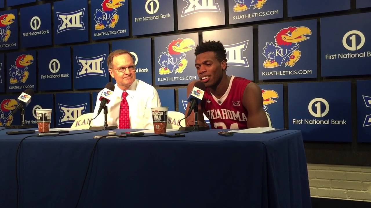 OU Head Coach Lon Kruger and OU player Buddy Hield after falling ...