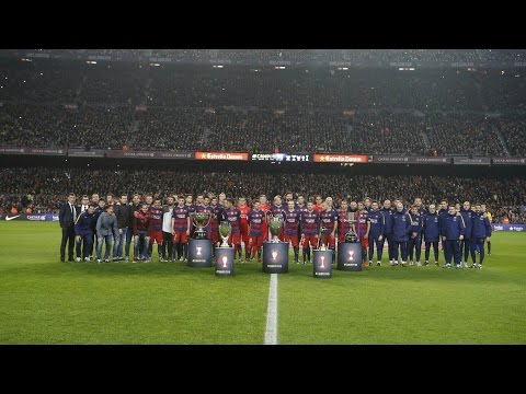 Delirio total en el Camp Nou por Messi y sus logros