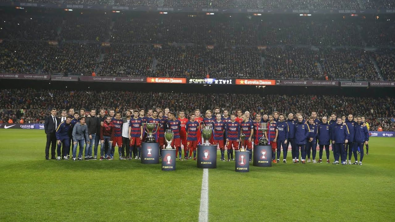 Barcelona receive guard of honour ahead of Betis game