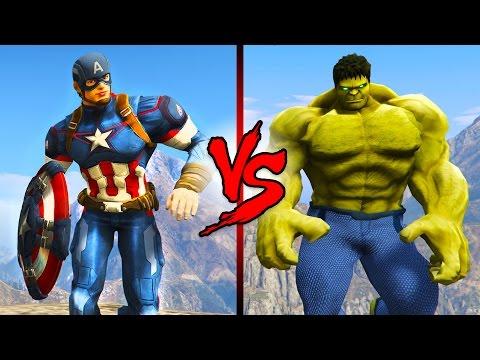 CAPTAIN AMERICA vs THE HULK!!
