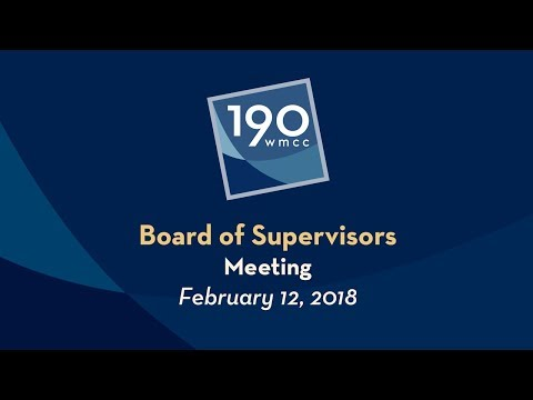 Board of Supervisors Meeting 2-12-2018
