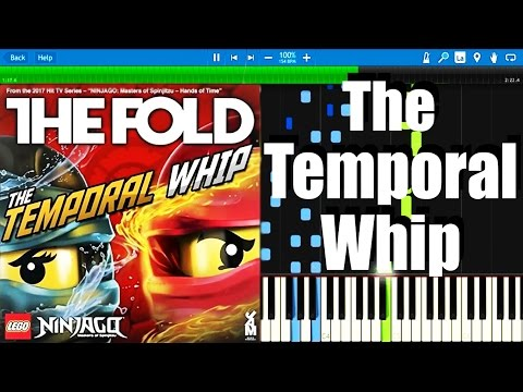 LEGO NINJAGO - The Temporal Whip by The Fold   Synthesia Piano Tutorial