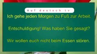 100 sätze auf Deutsch / Deutsch lernen A2 / B1