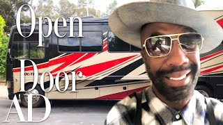 Inside J.B. Smoove's Tricked-Out RV With A Lofted Bedroom | Open Door | Architectural Digest