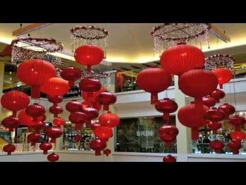 Chinese New Year Decorations at the Malls - YouTube