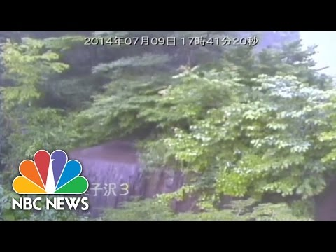 Typhoon Neoguri: MASSIVE Landslide In Japan | NBC News