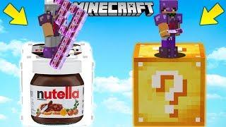 SFIDA con i LUCKYBLOCK della NUTELLA GIGANTE!! - Minecraft ITA