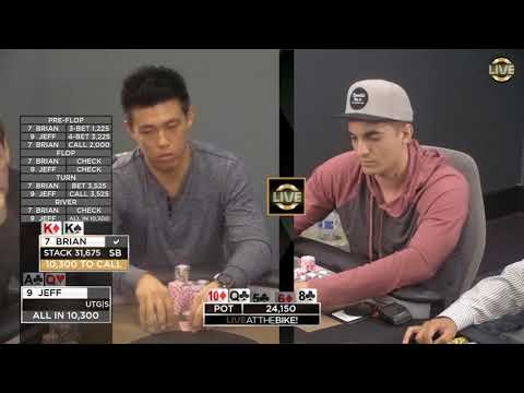 2 Big Hands, 1 Huge Play and a $35,000 Decision ♠ Live at the Bike!