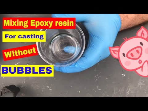 How I mix and Use Epoxy Casting Resin Avoiding Bubbles