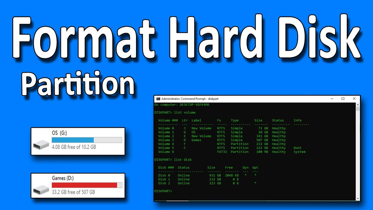 How To Format Hard Disk Completely Including All the Partition in Windows 27