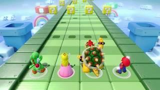 Yoshi vs Peach vs Bowser vs Mario - Sound Stage - Rhythm Mini Games - Super Mario Party