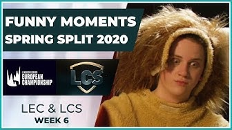Funny Moments - LCS & LEC Week 6 - Spring Split 2020