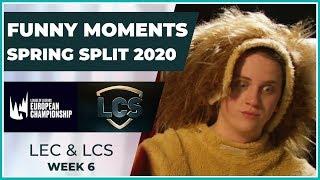 Funny Moments - LCS & LEC Week 6 - Spring Split 2020