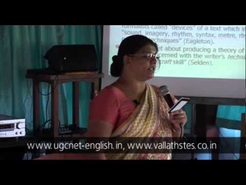 Lecture on Formalism by Dr. Kalyani Vallath (Part I)