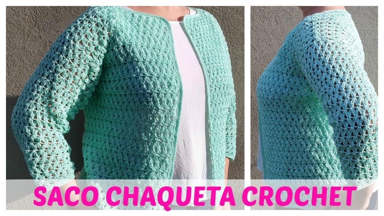 Cómo Tejer Saco Chaqueta A Crochet Youtube