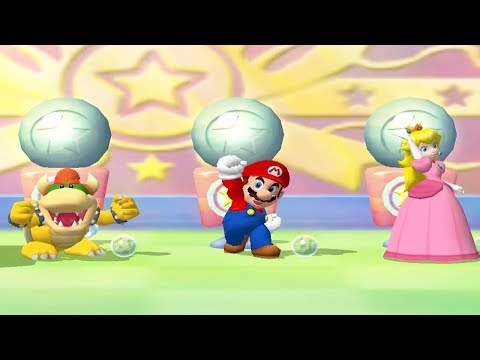 Mario Party 5 - 4 Player Minigames - Luigi Bowser Mario Peach All Funny Mini Games (Master CPU)
