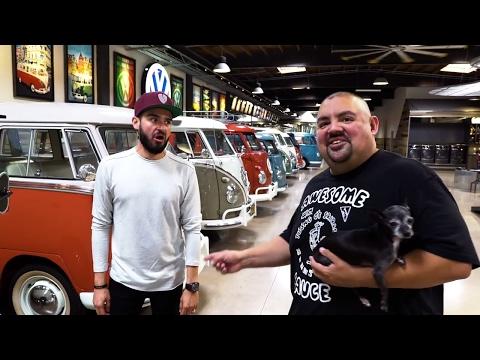 We met Gabriel  Fluffy  Iglesias and his EPIC GARAGE!!!