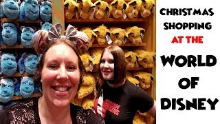 Christmas Shopping at the World of Disney in Disney Springs Florida