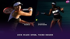 Tatjana Maria vs. Sloane Stephens | 2019 Miami Open Third Round | WTA Highlights