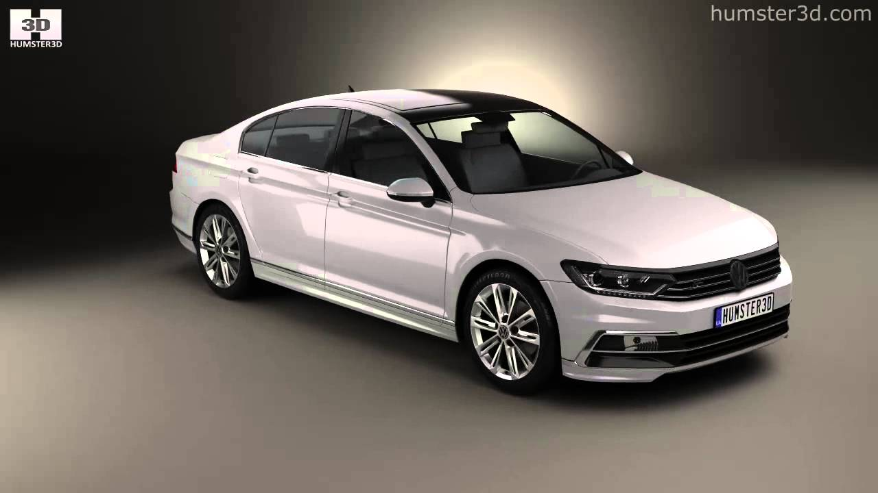 volkswagen passat r line b8 sedan 2015 by 3d model store youtube. Black Bedroom Furniture Sets. Home Design Ideas