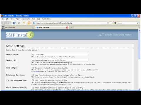 How to install SMF ( Simple Machines Forum )