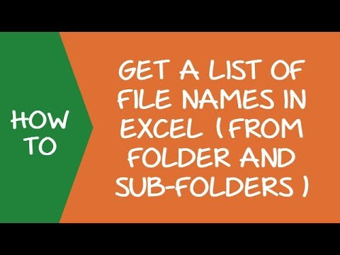 Get a List of File Names from Folders & Sub-folders (using