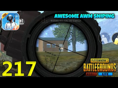 Awesome AWM Sniping   PUBG Mobile Lite Solo Squad Gameplay