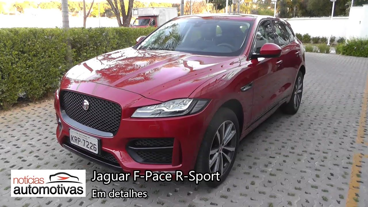 jaguar f pace r sport detalhes. Black Bedroom Furniture Sets. Home Design Ideas