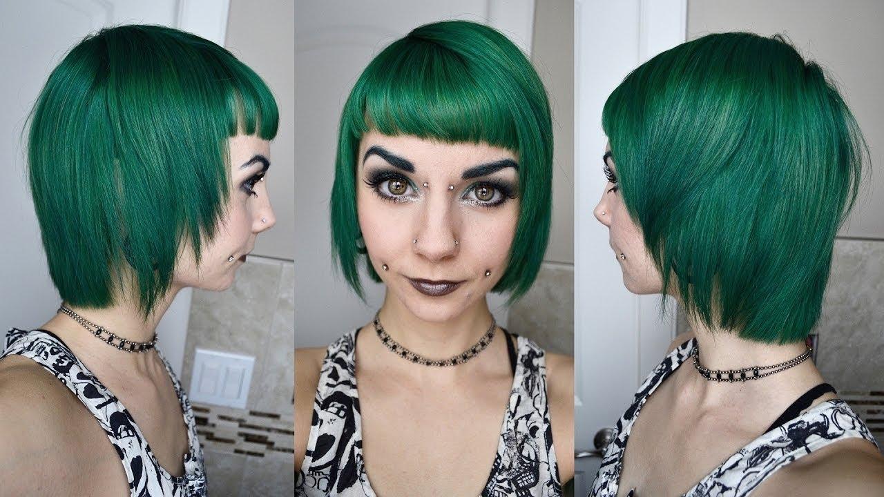 phantom green bobcut tutorial