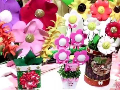 Arreglos Florales De Fomi O Goma Evadistintas Flores