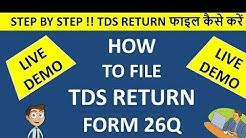 HOW  TO FILE  TDS RETURN FORM 26Q FY 2018-19 (QUARTER 3) ! TDS RETURN    !