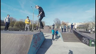 Vlog: Один день в скейт-парке в Минске на стрит самокате и BMX