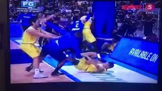 Philippines vs. Australia  Fight at FIBA Qualifier at Philippine Arena