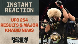 UFC 254 Results and MAJOR Khabib Nurmagomedov News | MORNING KOMBAT