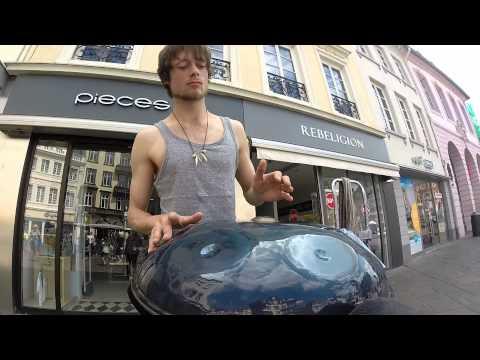 Fabian Küpper - Street Music Trier - SteelHarp (Hang Drum/Handpan)