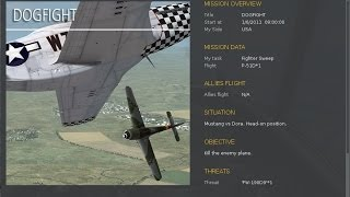 DCS World 1.5.0 Open Beta - P-51 Instant action mission - External Views - Dog Fight