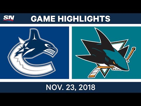 NHL Highlights | Canucks vs. Sharks – Nov. 23, 2018