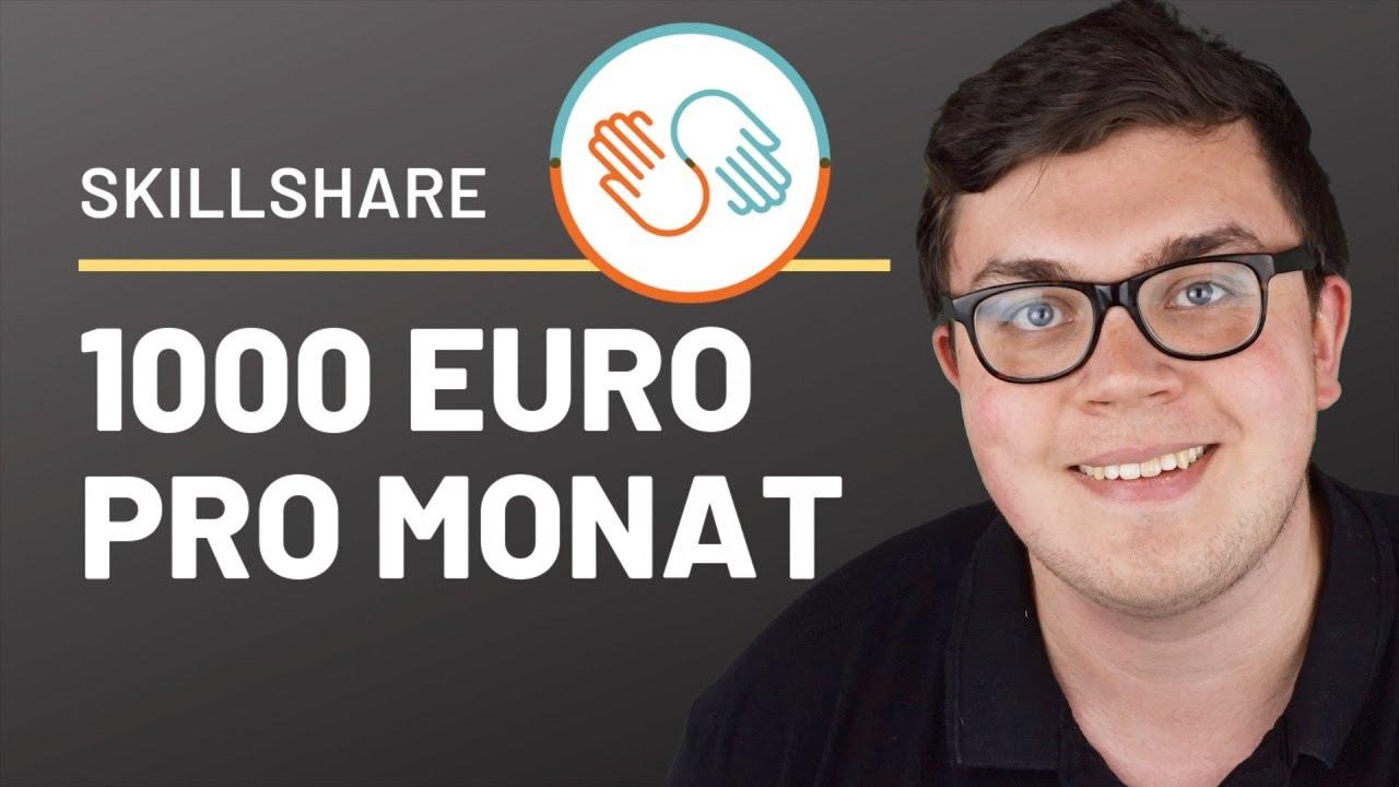 8 Strategien um auf Skillshare 1000 Euro/Monat zu verdienen