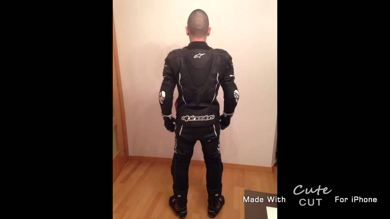 Alpinestars Jacket Leather >> Alpinestars ATEM 2015. Negro black 2 pz. Mono Gopro hero - YouTube