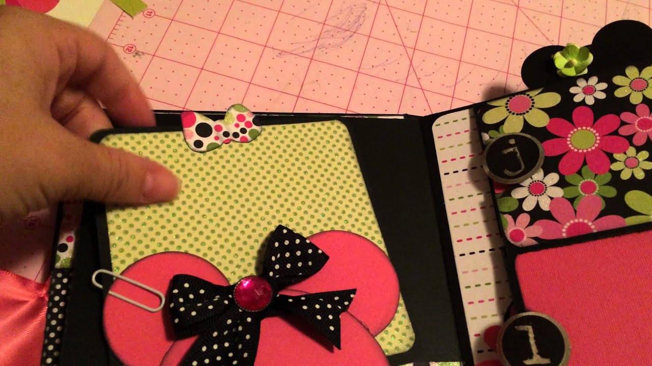 Disney Inspired Mini Album For Girls Birthday Youtube