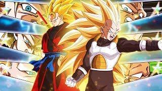 NEW JP EXCLUSIVE FULLY RAINBOW'D SSJ3 TEAM! Xeno SSJ3 Goku & Vegeta | Dragon Ball Z Dokkan Battle