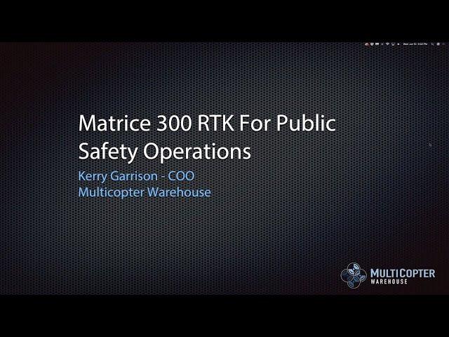 DJI Matrice 300 RTK for Public Safety