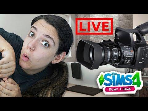 FIZ UMA LIVE TOMANDO BANHO! - The Sims 4 Rumo a Fama
