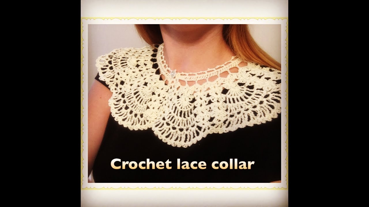 How to crochet lace collar #1 - YouTube