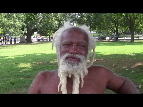 """Elijah Alfred """"NatureBoy"""" Alexander, Jr. across the street from the White House."""
