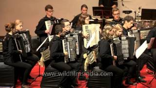 Accordion State Youth Orchestra Baden-Wurttemberg plays 'Dance of the Comedians'