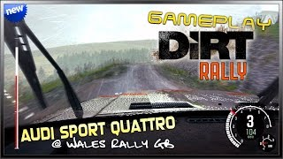 DiRT Rally (New) - Rain Gameplay [Early Access] Audi Quattro @ Wales