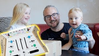 MY KIDS HELP ME REVIEW A SYNTHESIZER