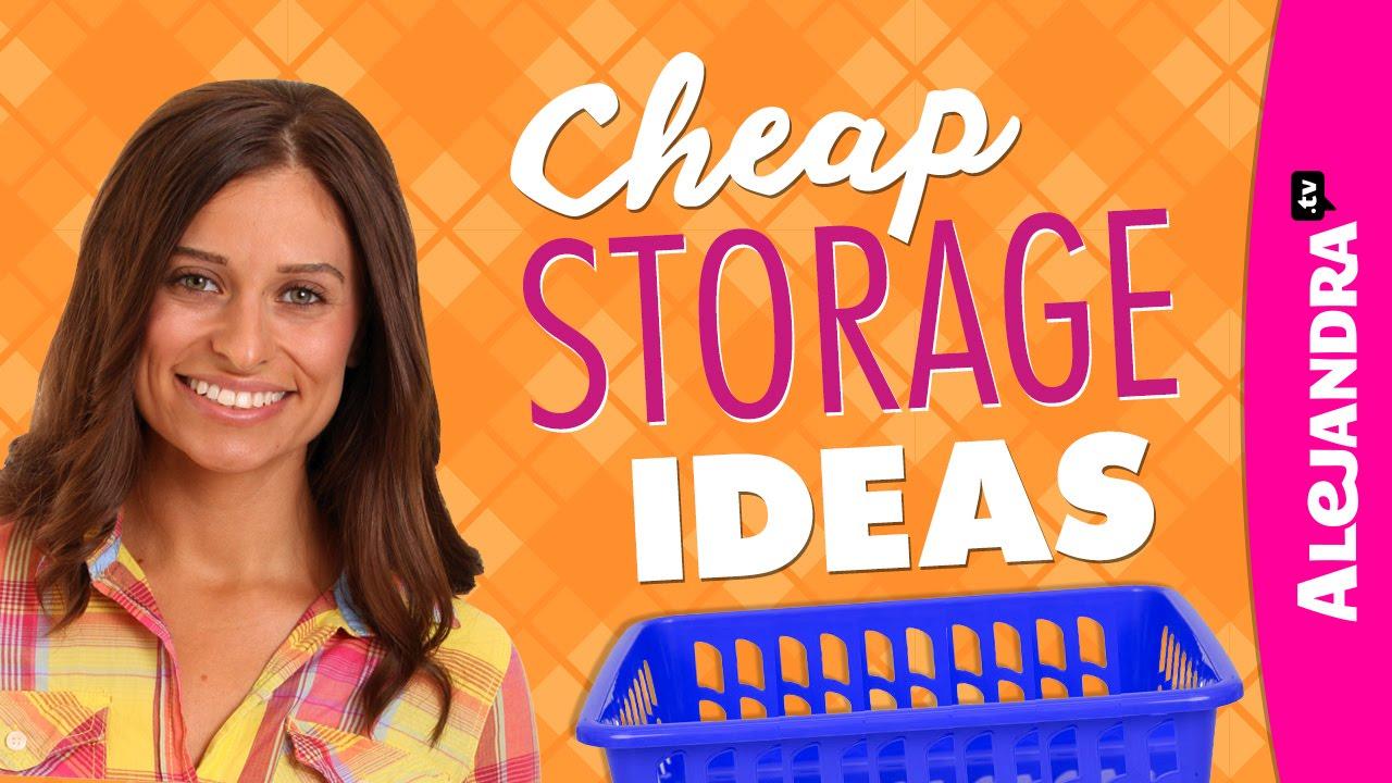 cheap storage ideas - dollar store haul - youtube